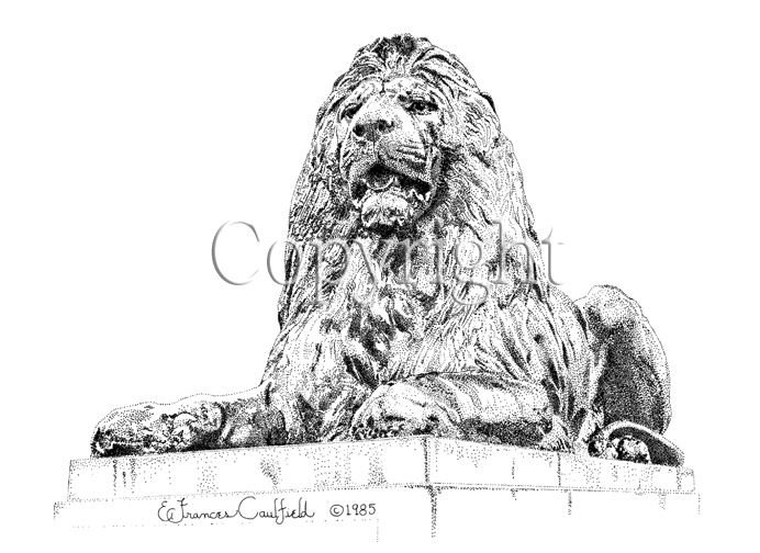 Trafalgar Square Lions Drawing Trafalgar Square Lion ""
